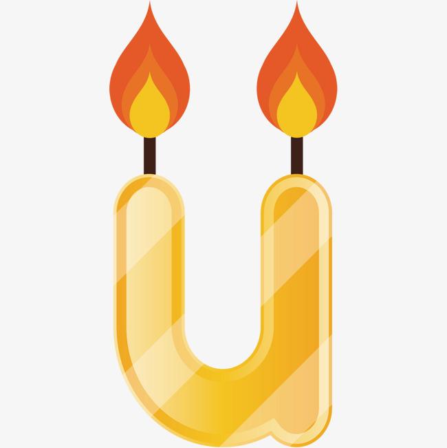 卡通蜡烛 字母蜡烛 手绘蜡烛 英文小写字母蜡烛 教师节 老师 蜡烛