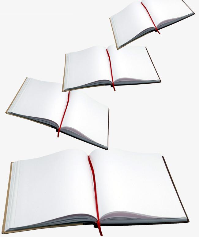 打开的白色书本