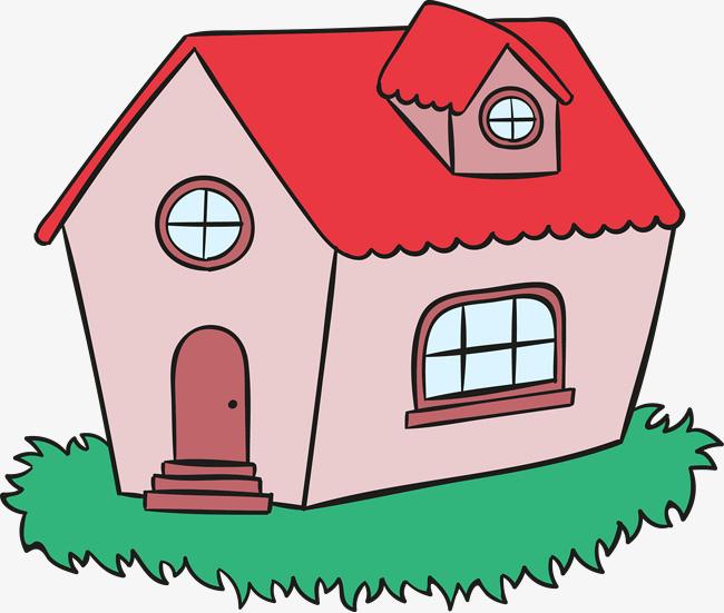 卡通手绘线条房屋