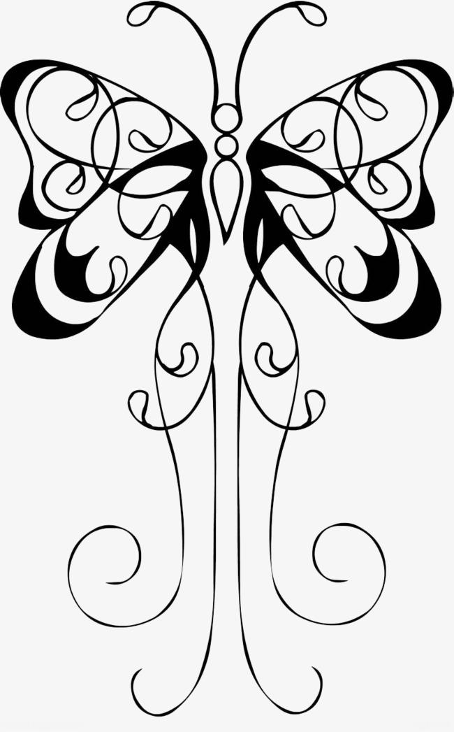 手绘装饰画蝴蝶