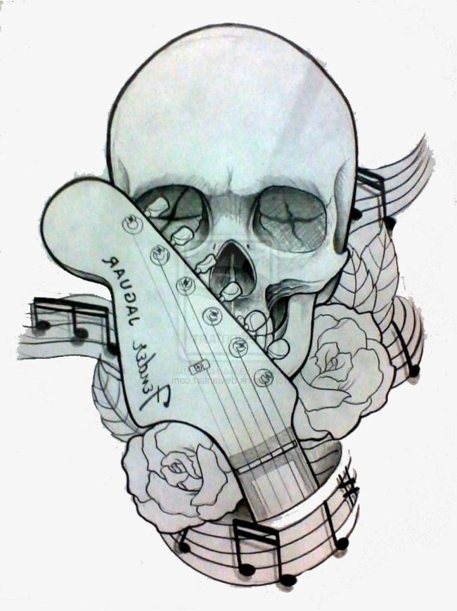 音乐骷髅创意手绘