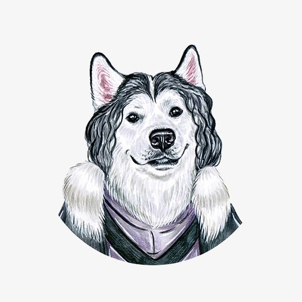 手绘水彩可爱狗狗