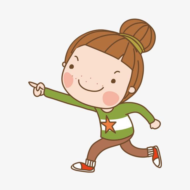 跑步的女孩图片