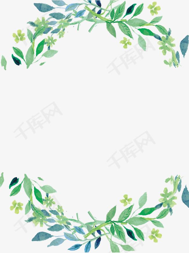 小清新植物边框素材图片免费下载_高清边框纹理psd_千库网(图片编号