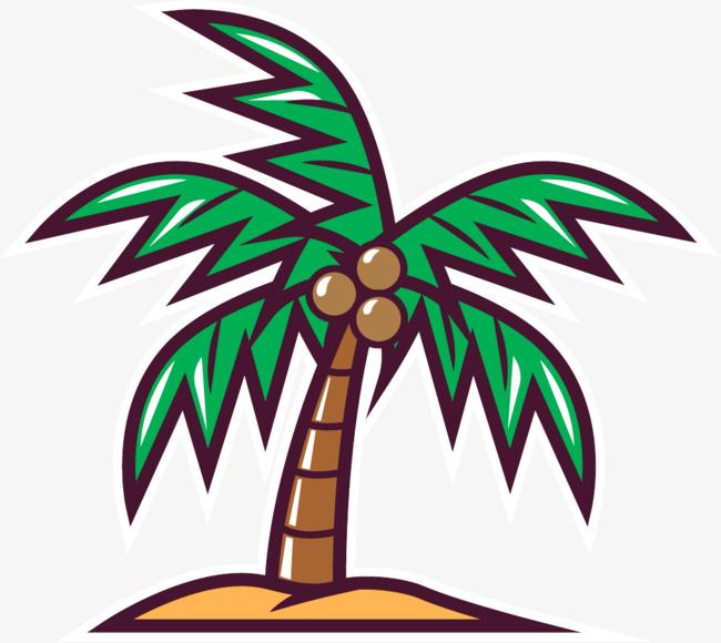 手绘椰子树
