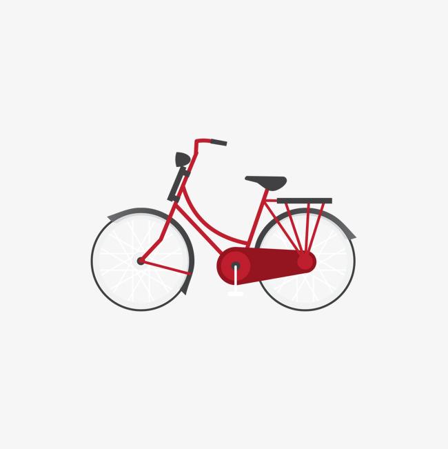 红色 自行车 矢量 手绘             此素材是90设计网官方设计出品