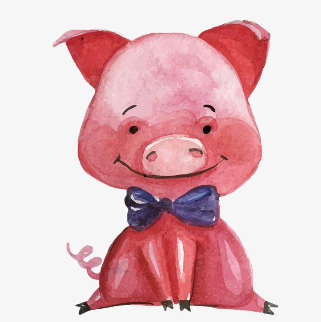 用纸筒做动物小猪