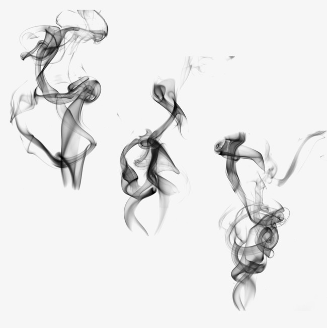 黑色烟雾效果素材【高清效果元素png素材】-90设计