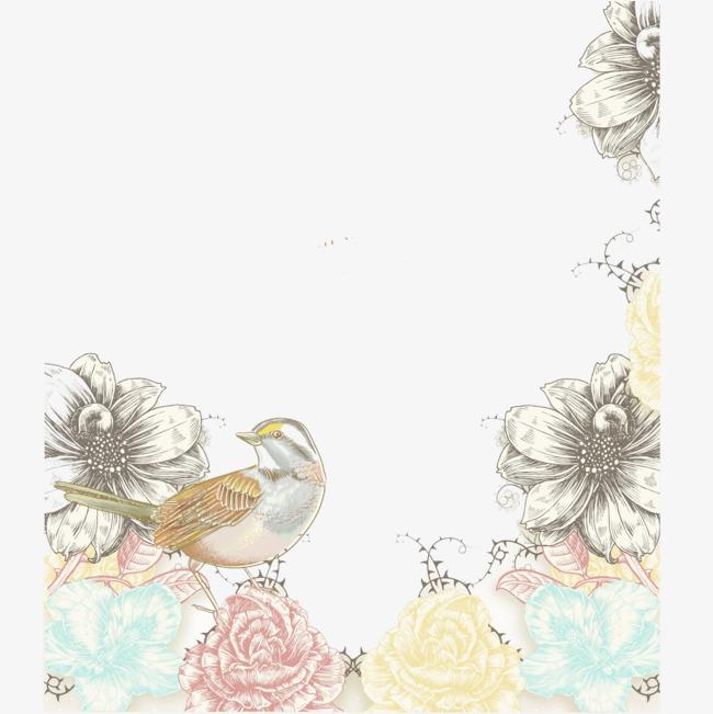 浅色系春天手绘海报装饰【高清图标元素png素材】-90