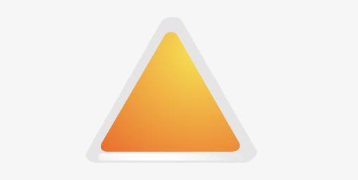 90设计提供高清png手绘动漫素材免费下载,本次灰橙色圆角三角形作品为