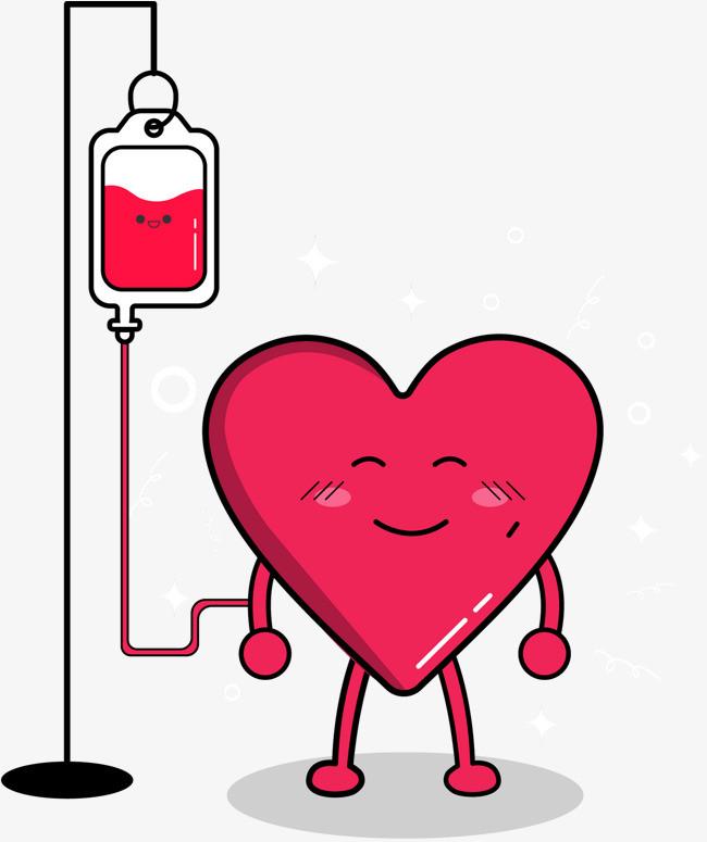 矢量爱心献血图片