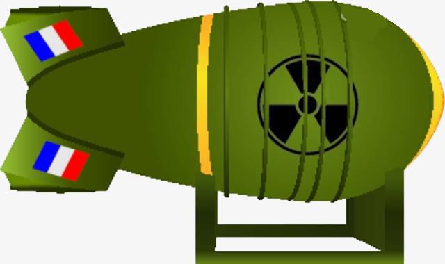 创意矢量绿色核弹元素