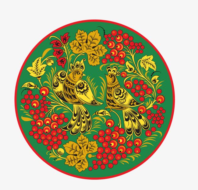 圆形适合纹样图案png素材-90设计图片