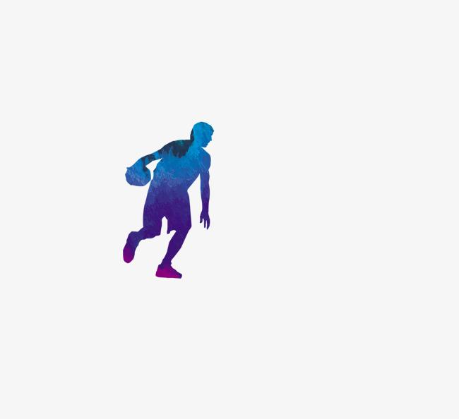 彩色打篮球手绘