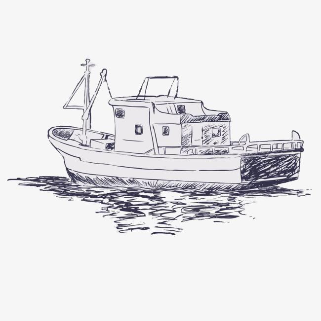 游船 手绘效果图
