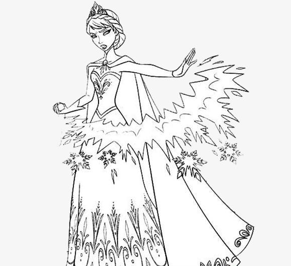 装饰画手绘创意冰雪女王