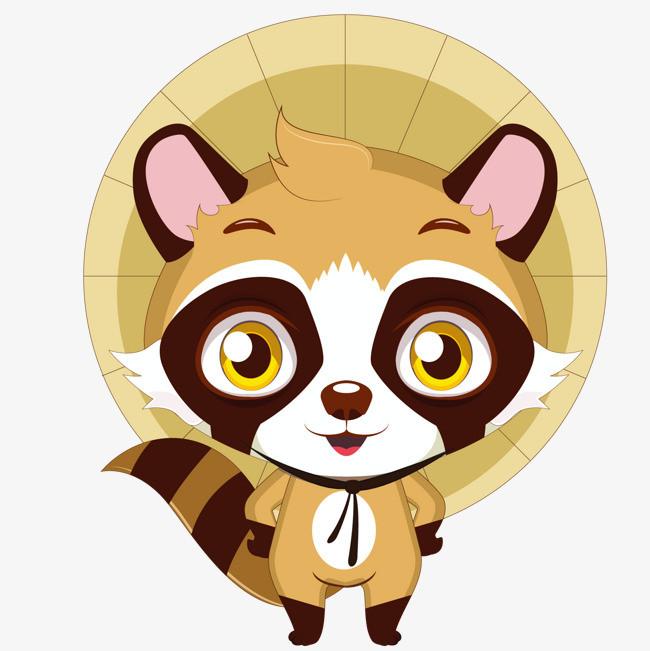 帽子 装饰 小浣熊 动物             此素材是90设计网官方设计出品