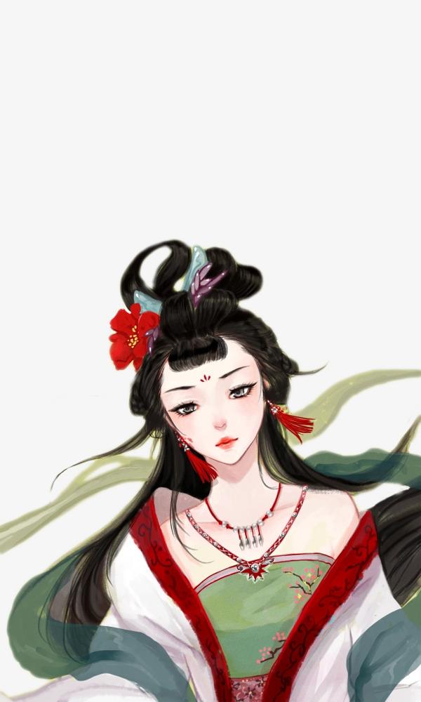 图片 美女人物 > 【png】 古代中国风宫廷后宫美女  分类:手绘动漫