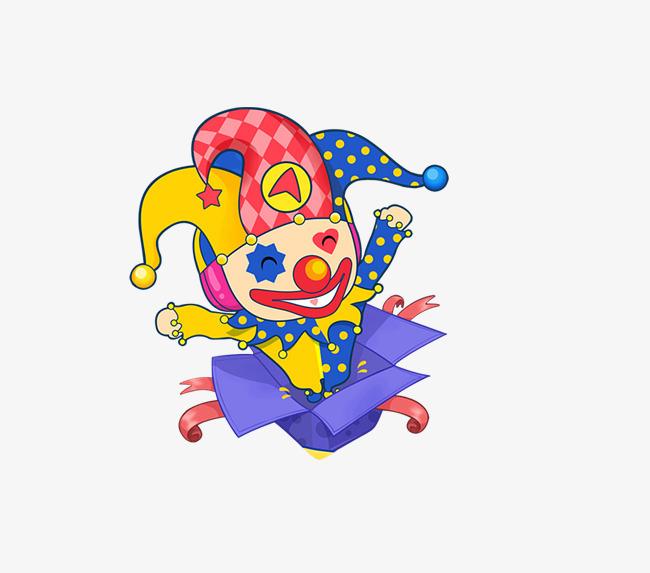 图片 > 【png】 卡通小丑盒子  分类:手绘动漫 类目:其他 格式:png