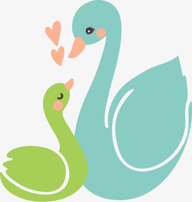图片 > 【png】 卡通动物天鹅母子情深  分类:手绘动漫 类目:其他