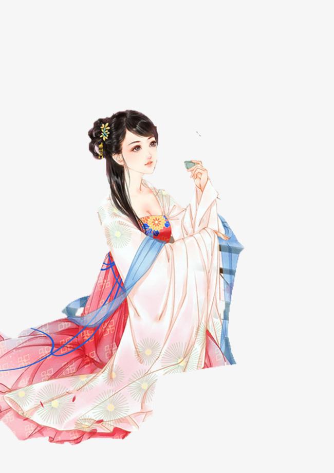 古代美女古风手绘