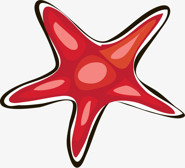 手绘红色星星图案