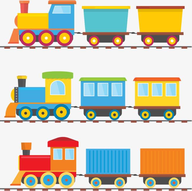 矢量手绘卡通小火车
