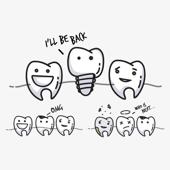 牙齿简笔画步骤