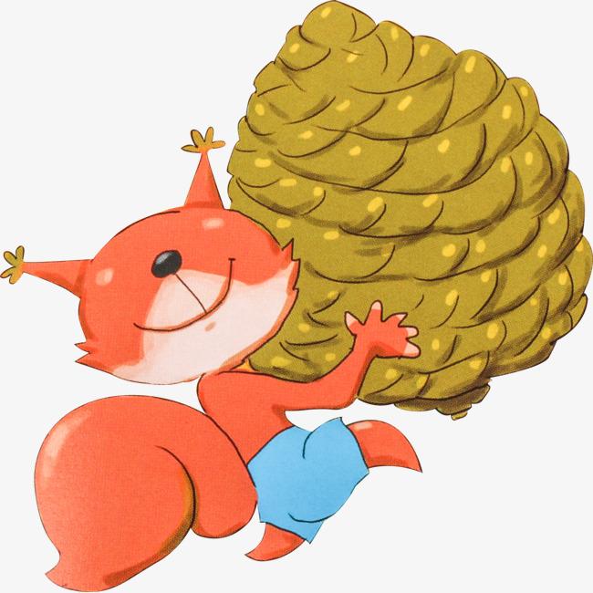 松鼠抱松果png素材-90设计图片