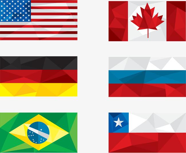 矢量手绘国旗