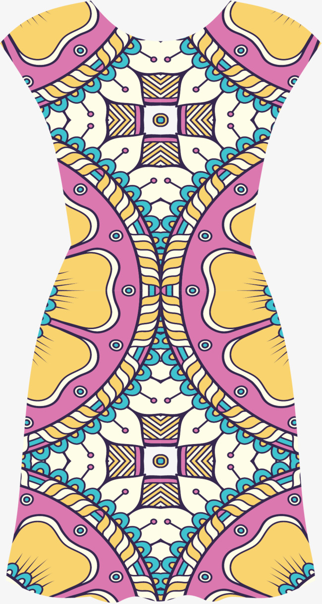 宗教花纹旗袍裙