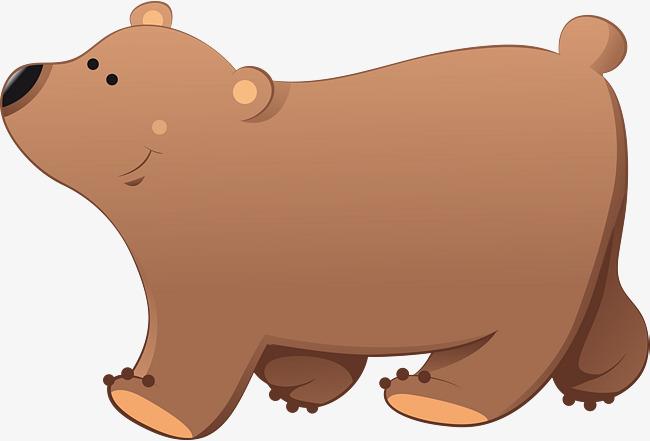 卡通狗熊简笔画_卡通狗熊矢量图