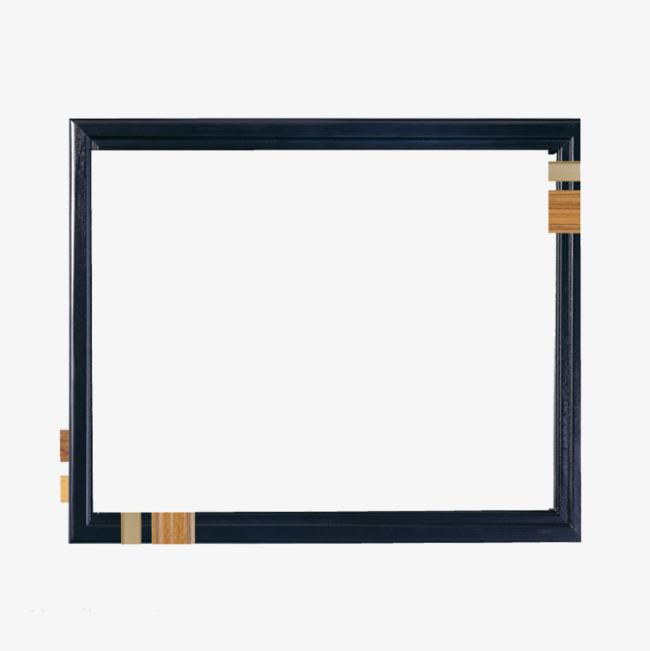 黑色简约古典藏式边框【高清边框纹理png素材】-90设计