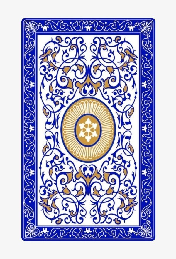 蓝色图案花纹扑克牌背面素材蓝色花纹扑克背面扑克牌素材纹理-蓝色