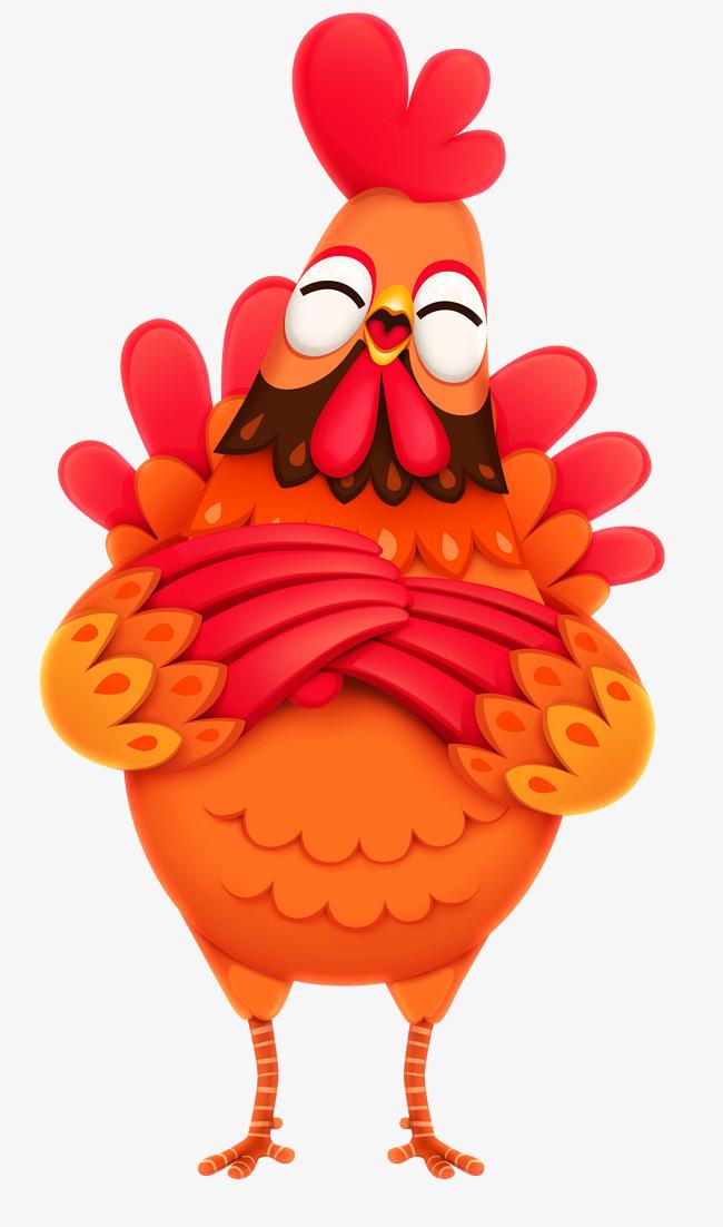 图片 > 【png】 卡通动物闭眼大红公鸡  分类:手绘动漫 类目:其他