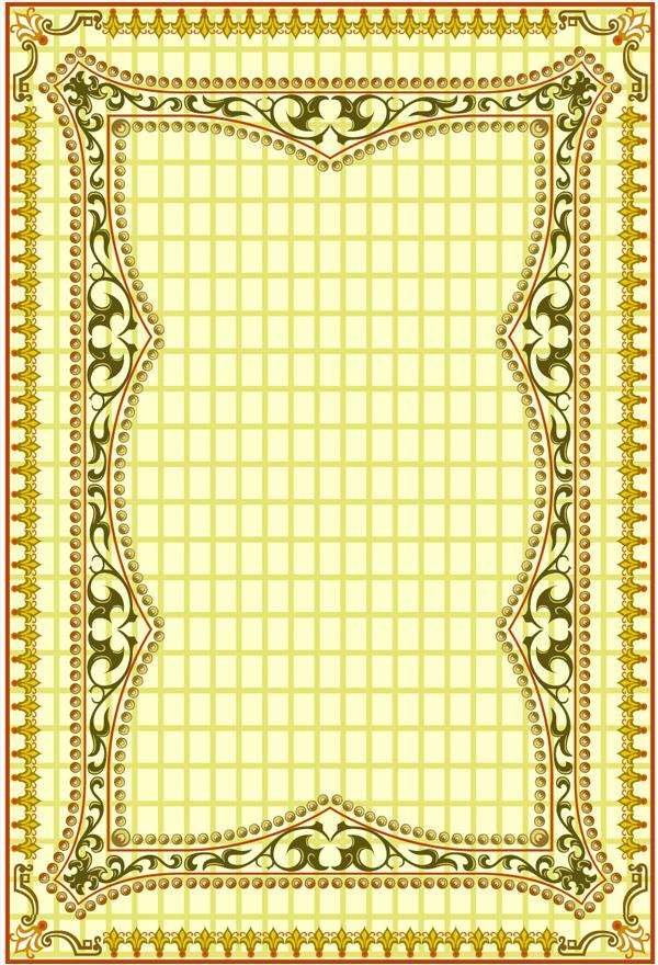黄色花纹图案扑克牌背面黄色扑克背面扑克牌花纹纹理素材-黄色花纹