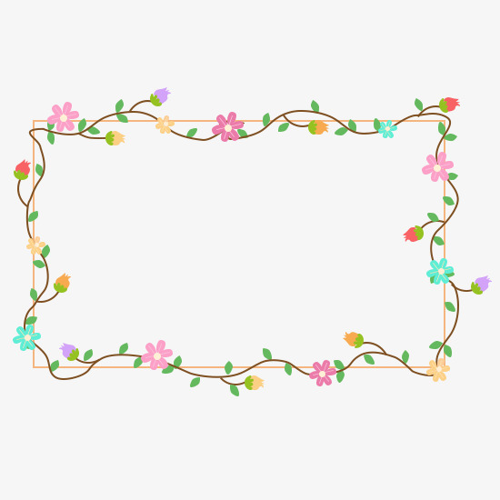 手绘花边框图片