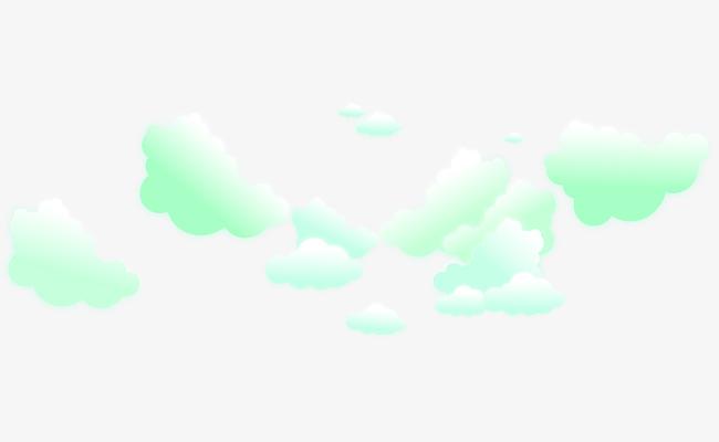 图片 > 【png】 卡通浅绿色云朵背景  分类:手绘动漫 类目:其他 格式