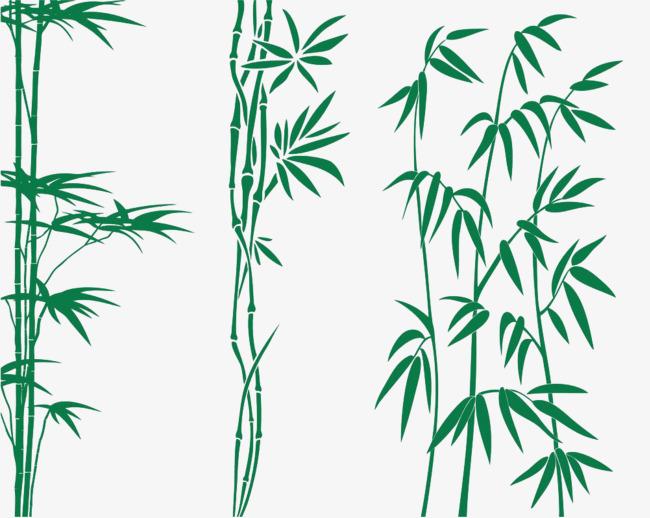 绿色手绘竹子