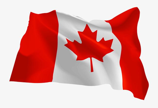 矢量手绘加拿大国旗