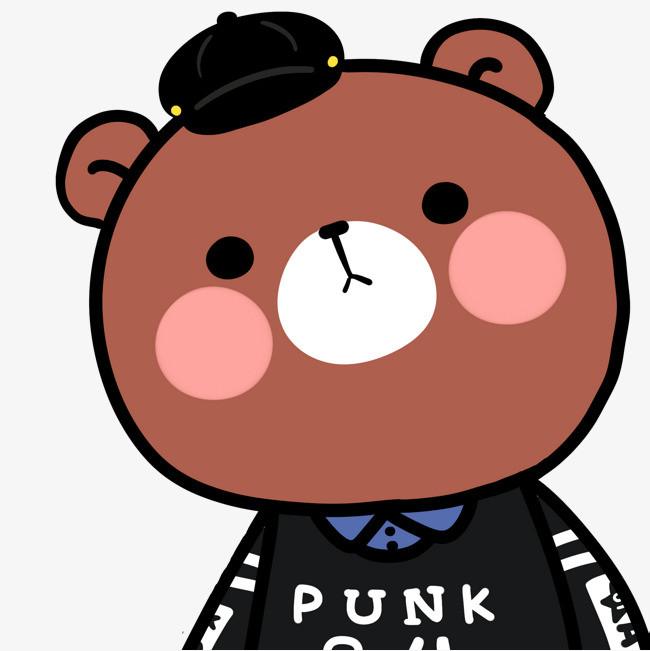 小熊 可爱 帽子 手绘小熊 可爱 帽子 手绘免扣素材