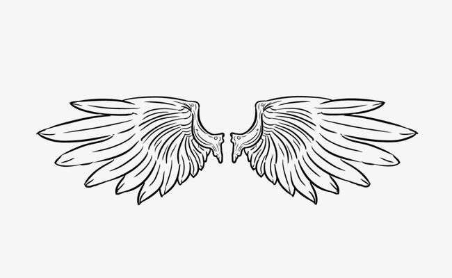 手绘的翅膀