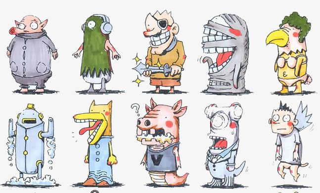 怪物  卡通 手绘 装饰             此素材是90设计网官方设计出品