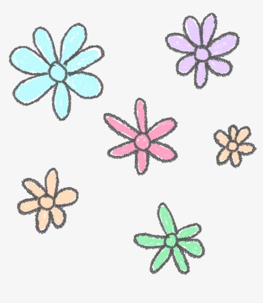 图片 > 【png】 彩色小花  分类:手绘动漫 类目:其他 格式:png 体积