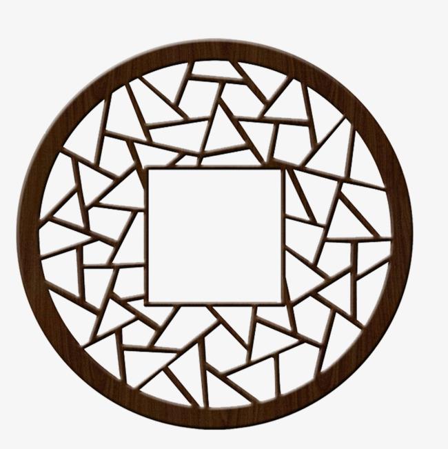 铜钱镂空木雕