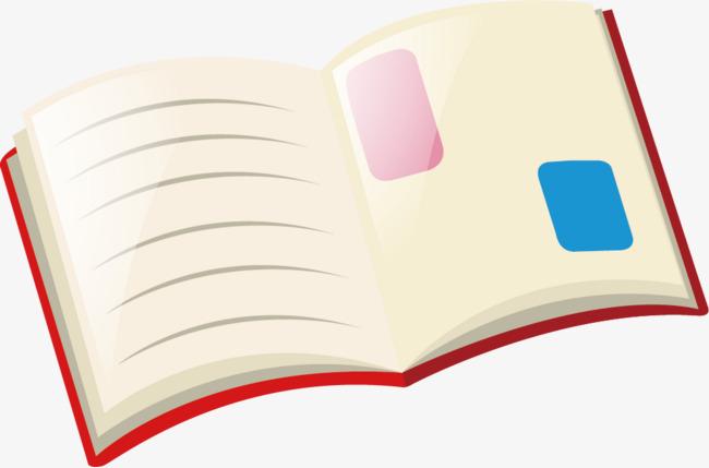 图片 > 【png】 卡通书桌翻开的书本  分类:手绘动漫 类目:其他 格式