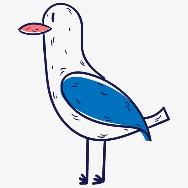 手绘线条绘画动物小鸡