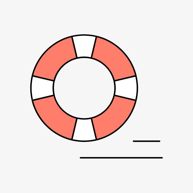 手绘的游泳圈png素材-90设计
