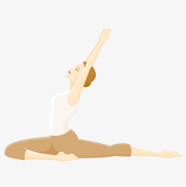 手绘瑜伽女孩