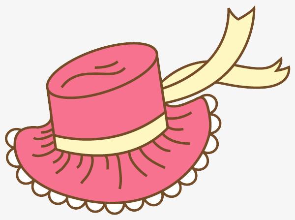 卡通粉色帽子图片